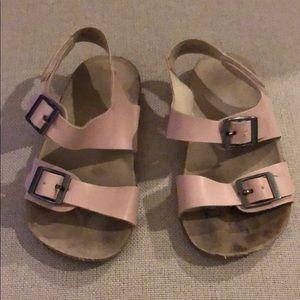 Baby girl faux blush pink Birkenstock's